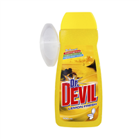 Dr. DEVIL WC gel s košíčkem 400ml 3in1 Lemon fresh